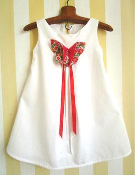 robe de cortège blanche et papillon