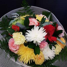 Ramo de flores multicolor grande modelo.