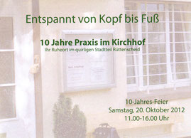 10 Jahre Praxis im Kirchhof