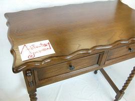 デスク おしゃれ オーク 無垢材 木製 ライティング ドレッサー 英国様式 ツイストレッグ ねじり棒 スタイル クラシック 輸入家具