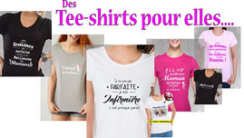 Teeshirt à message pour les femmes
