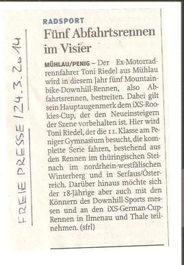 Freie Presse Rochlitz 24.03.2014
