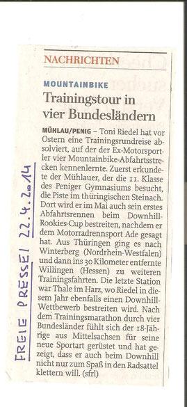 Freie Presse Rochlitz 22.04.2014