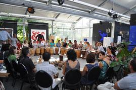 Teambuilding 2010 mit 60 TeilnehmerInnen, Zug