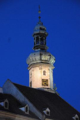 Der Feuerturm bei Nacht