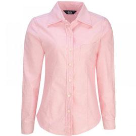 Blusa oxford rosa pastel larga