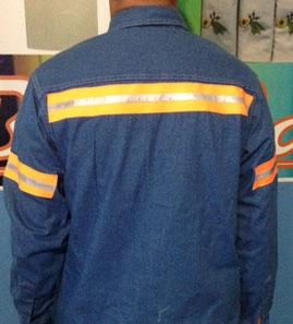 Camisa mezclilla caballero manga larga 8 onzas