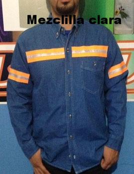 Camisa de Mezclilla con ó sin Bordado - web blue cuernavaca bordados ... 0a28b1607b258
