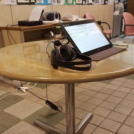 タブレットを使用した物忘れチェックコーナーには、たくさんのお客様がご来場されました。