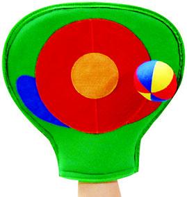 Gant cible avec scratch ou jeu de scratch-ball à acheter pas cher.