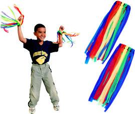 Rubans de danse à mettre aux poignets gym rythmique des enfants. Rubans de danse à mettre aux poignets à acheter pas cher. Facile à lancer cette balle poco balle.