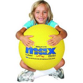 Ballon méga-max jaune de grande taille à acheter pas cher. Ballon Méga-max de fitness et gym de qualité pour les enfants.