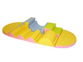 Kit équilibre 2 en mousse de motricité enfants. Kit équilibre 2 matériel de modules en kit de motricité enfants Sarneige à acheter pas cher.