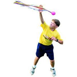Balle poco-balle à lancer pour gym rythmique des enfants. Balle pocoballe à acheter pas cher. Facile à lancer cette balle poco balle.