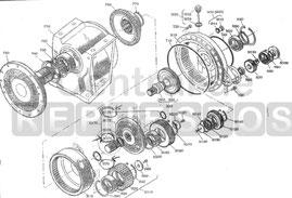 Despiece reductor camión hormigonera Sauer TMG 51.2 reducteur catalogue