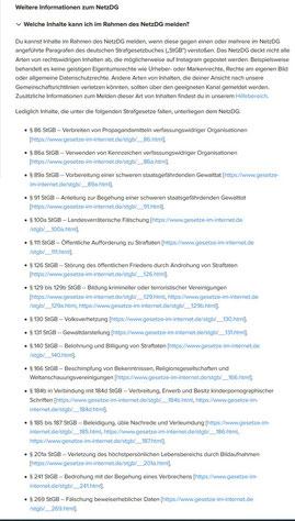 Fake-Profil instagram facebook Meldung nach dem Netzwerkdurchsuchungsgesetz NetzDG - Rechtsanwalt Sven Nelke