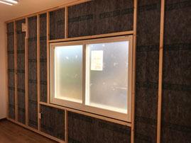 愛知 江南 室内の音 プラスト 防音ガラス レンタルスペース 音漏れ 内窓 防音内窓大型トラックの走行音