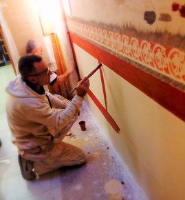 Restauracion estuco al fuego. Pintors Barcelona