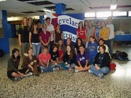 Austauschschüler im Foyer