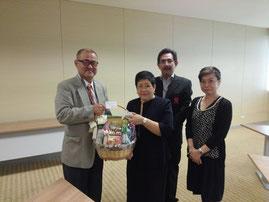Mr. Masao SAITO, Chief Officer, Meiji ASEAN Center(Left)