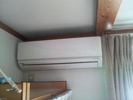 前橋市O様宅2階寝室エアコン新設工事