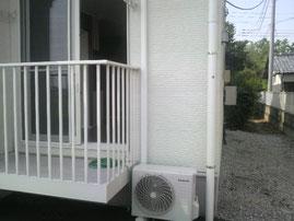 伊勢崎市ハイツ1階リビングエアコン新設工事