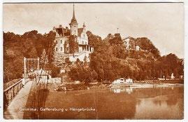 Grimma - Gattersburg, um 1937 beliebtes Tanzlokal, alte gelaufene Ansichtskarte
