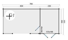 plan abris de jardin toit asymétrique en dordogne, kukka