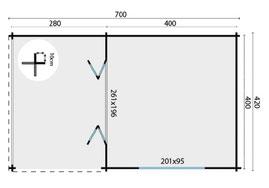 plan torkel chalet de jardin bois dordogne, aquitaine