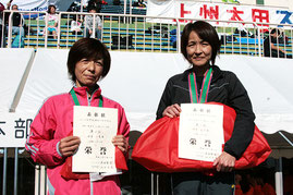 左から)2位の安達さん、1位の鈴木さん