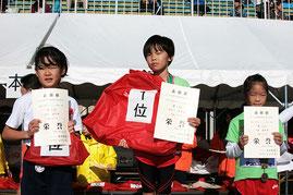左から)2位の村田さん、1位の長谷川さん、3位の剣持さん