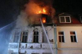 Wohnhausbrand Bernburg