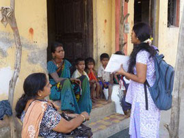 Agglomeration of Mumbai. Door-to-door sensitization and diagnosis in Thane, with our partner Alert India.