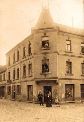 Das Geschäftshaus von Juwelier Schreiner um 1920