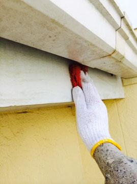 外壁塗装時破風板ケレン中