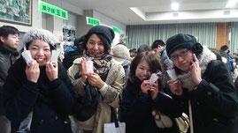 鶴岡のんべ女子会みなさん。グラスオーダーありがとう!