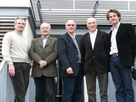 Mars 2011 : Pascal Thomas, JS, Gilbert Mourier (3 anciens Maire-Adjoints Pdts de l'OMS) et Valéry Denis (Maire-Adjoint aux Sports) + Claude Gamot Président de la commission