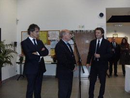 novembre 2012  baptêmes des équipements sportifs en présence de F.Baroin