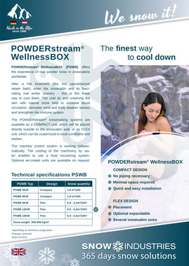Product information POWDERstream® WellnessBOX