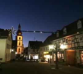 Gersfeld in der Rhön - historischer Marktplatz mit Barockkirche