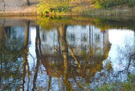 Bremer Villa - Spiegelung im Wasser