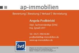 Angela Podbielski - ap-immobilien - Maklerin