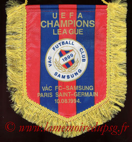 Fanion officiel  FC Vac-PSG  1994-95