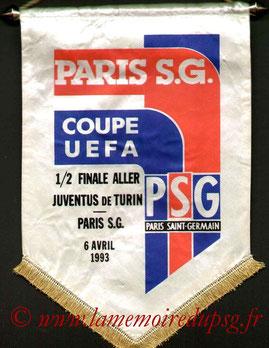 Fanion Officiel PSG-Juventus Turin  1992-93