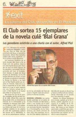 El Periódico promociona una novel.la de l'Alfred