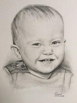 Portræt i blyant