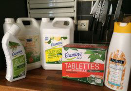 Organic cleaning detergents and body care used at key2paris