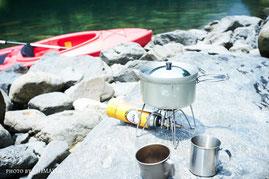 屋久島の渓谷美を見ながらのコーヒー,カヤック,カヌー,半日ツアー,屋久島ガイド