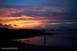 屋久島ナイトツアー,キャンプ,星空観察,ウミガメ観察,夕日