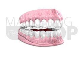 Zahnheilkunde Gebiss gesund Grafik